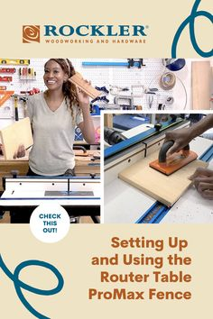 The Rockler Router Table ProMax Fence will help you achieve unmatched precision at your router table. Char Miller-King, aka The Wooden Maven, shows you how easy it is to set up and use this innovative new router table fence. Watch the video to learn more! #CreateWithConfidence #TheWoodenMaven #RouterTable #RouterTableFence #RocklerRouterTable Rockler Woodworking, Beginner Woodworking Projects, Learn Woodworking, Router Table Fence, Router Accessories, Router Lift, Wood Working For Beginners, Power Tools, Masters