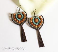 Tribal Inspired Micro Macrame Jewelry and Tutorials by UniqueForYouByVanya - The Beading Gem & # Micro Macrame Tutorial, Macrame Jewelry Tutorial, Diy Jewelry, Beaded Jewelry, Jewelry Ideas, Fashion Jewelry, Agate Jewelry, Jewelry Chest, Bracelet Tutorial