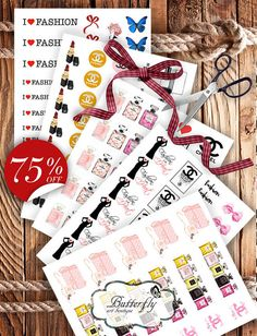 Chanel planner stickers Chanel party decor от ArtBoutiqueButterfly
