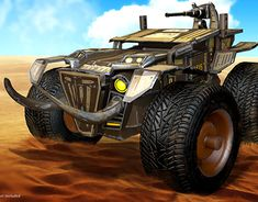 """Check out new work on my @Behance portfolio: """"Monster Truck - Assault Squad"""" http://be.net/gallery/61626947/Monster-Truck-Assault-Squad"""