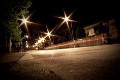 Night view - Molecova street, Bratislava