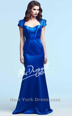 Simply chic fit-and-flare dress by Mac Duggal Royalty 48172Y