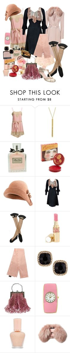 """Queenie Goldstein"" by littlemissniamhy ❤ liked on Polyvore featuring Ralph Lauren, 1928, NARS Cosmetics, Marc Jacobs, Dita Von Teese, Helen Kaminski, Gatsby, Trasparenze, Yves Saint Laurent and Fragments"