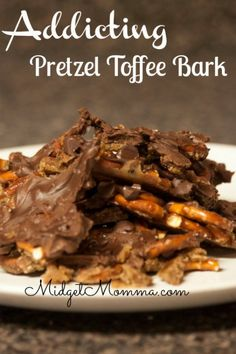 Pretzel Toffee Bark is an addicting combination of salty and sweet. It melts and…