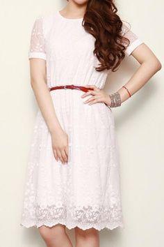 Retro Embroidery Elegant White Dress   The Art of Vintage-inspired  amp   Cute Women s fe42ae2b4b09