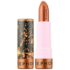 Sephora Collection Lipstick 51 Festival Lights (metal finish) oz/ 4 g Sephora Lipstick, Lipstick Swatches, Lipstick Brands, Sephora Makeup, Matte Lipsticks, Drugstore Makeup, Lip Makeup, Beauty Makeup, Best Beauty Tips