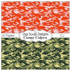 50% OFF TODAY Camo Digital Scrapbook Papers by DigiScrapDelights  #Scrapbooking #DigiScrapDelights #Scrapbookingkits #camo