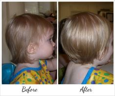 Toddler pixie cut before and after