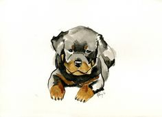 Watercolor painting of your pet! Cute.