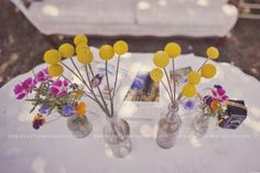 this whole wedding and photographer is amazing! But i love these cute flowers too