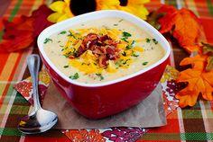 Bacon-Cheddar Cauliflower Chowder (A Low-Carb Alternative to Baked Potato Soup!)   Iowa Girl Eats