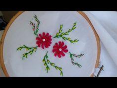 91.- Bordado fantasia para hojas de las fresas parte 4 de 5 - YouTube