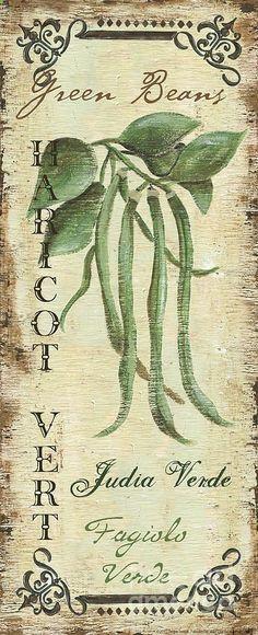 Vintage Vegetables 2 Painting  - Vintage Vegetables 2 Fine Art Print