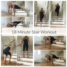18-minute-stair-workout. 6 exercises. 3 rounds.