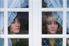 """ Françoise Hardy & Sylvie Vartan photographed by Jean-Marie Périer """