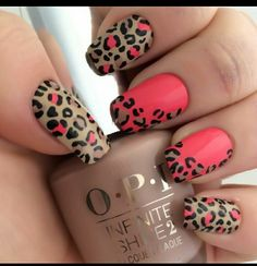 easy leopard nail art designs 2016 - style you 7 Leopard Nail Designs, Nail Art Designs 2016, Leopard Nail Art, Leopard Print Nails, Leopard Prints, Leopard Spots, Trendy Nails, Cute Nails, My Nails