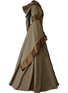 Looks like an Elven princess dress to me Elven Princess, Medieval Princess, Elven Queen, Vetements Clothing, Vintage Outfits, Vintage Fashion, Medieval Clothing, Celtic Clothing, Medieval Fashion