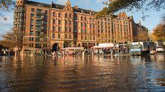 Land unter, wie hier in Hamburg. Eine App soll Menschen in Zukunft frühzeitig vor Sturzfluten warnen.