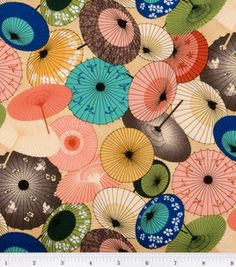 Keepsake Calico Fabric-A Fuji Afternoon Umbrellas & keepsake calico fabric at Joann.com Every time I see this fabric I want to buy it, but I don't know what I would do with it.