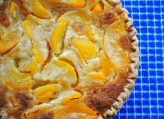 Buttermilk Peach Pie – and Flying on Bicycles! If you're anything like me, the title alone drew you to this post. Anything with buttermilk gets five stars in my book. So let me just tell you right now that if you like buttermilk, pies, and peaches, this one won't disappoint!  :-)