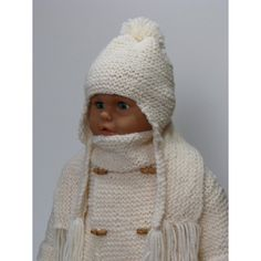 Taille 6 mois jusqu  à 9 mois Manteau , bonnet , écharpe pour bébé tricoté f74fdbdc322