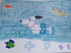 Snoopy UnderWater scene with Woodstock Peanuts by LilyMoonsigns, $4.00-http://www.etsy.com/treasury/NTEwMDk3N3wyNzIyMTg1MDYx/dreamed-up-by-teamdream
