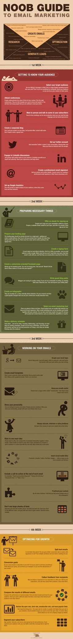 Noob Guide to #Email Marketing Infographic