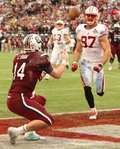 Connor's Shaw's RECEIVING TD at the 2014 Capital One bowl!!