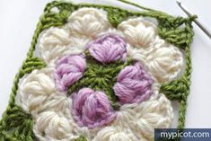 MyPicot is always looking for excellence and intends to be the most authentic, creative, and innovative advanced crochet laboratory in the world. Crotchet Patterns, Crochet Motifs, Crochet Blocks, Granny Square Crochet Pattern, Crochet Stitches Patterns, Crochet Squares, Knit Crochet, Crochet Quilt, Stitch Patterns