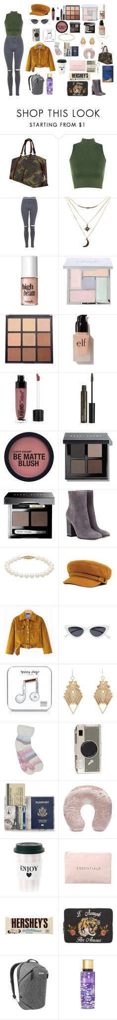"""Untitled #83"" by kmckee12 ❤ liked on Polyvore featuring WearAll, Topshop, Charlotte Russe, Benefit, Morphe, e.l.f., Wet n Wild, NYX, Bobbi Brown Cosmetics and Gianvito Rossi"