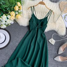 Beach Party Maxi Dress Sexy Spaghetti Strap Long Dress Women Elegant B – eShop Simple Dress Casual, Classy Dress, Simple Dresses, Pretty Dresses, Casual Dresses, Fall Dresses, Long Dresses, Elegant Dresses Classy, Prom Dresses