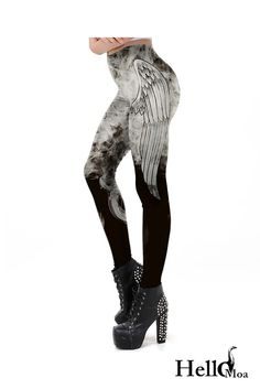 Designed with premium high quality material, Light-weight, flexible and move with you every step. Steampunk Leggings, Ankle Length Leggings, Workout Leggings, Colour Images, Custom Made, Compliments, Chill, Angel, Dark