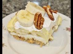 Making A Banana Split Cake – Recipe – All Recipes Food Cooking Network Banana Split Cake Recipe, Buttermilk Cake Recipe, Banana Split Dessert, Banana Recipes, Easy Cake Recipes, Dessert Recipes, Bread Recipes, Vegan Christmas Cookies, Lentil Soup Recipes