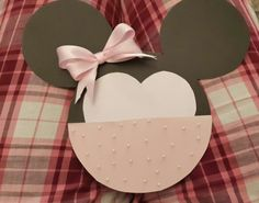 Minnie mouse invertation card