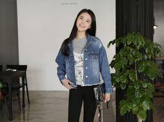 10's trendy style maker 66girls.us! Faded and Fringed Pre-Damaged Jacket (DGRS) #66girls #kstyle #kfashion #koreanfashion #girlsfashion #teenagegirls #fashionablegirls #dailyoutfit #trendylook #globalshopping