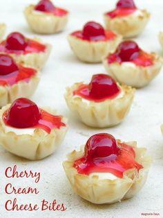 Cherry Cream Cheese Bites
