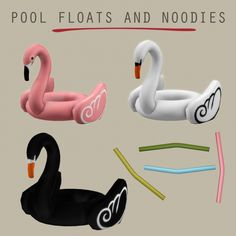 Sims4 Swimming pool decor Floats and noodles