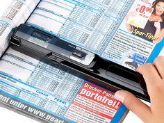 Somikon 2in1 Scanner: mobiler Handscanner mit Dockingstation 900 dpi