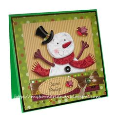 Christmas card with Hunkydory Mr. Frosty (1)