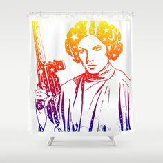 Princess Leia Shower Curtain by mchlsrr - $68.00 #starwars