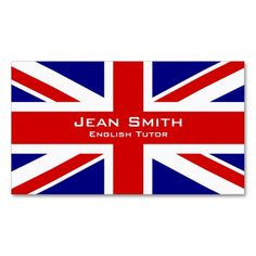 Swedish flag business cards swedish teacher cards teacher english tutor english teacher with uk flag business card reheart Image collections