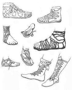 Обувь древней греции виды