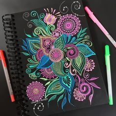 Pin by cassandra cefalu on mandalas in 2019 Mandala Art, Mandala Sketch, Mandalas Drawing, Mandala Painting, Dot Painting, Gel Pen Art, Gel Pens, Doodle Patterns, Zentangle Patterns