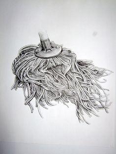 The mop series, Frances Trace, pen on paper.