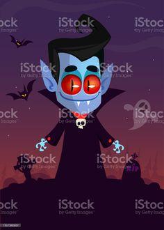 Cute cartoon vampire smiling. Vector illustration isolated - Векторная графика Белый роялти-фри Vampire Cartoon, Cute Cartoon, Illustration, Movie Posters, Film Poster, Illustrations, Cute Comics, Billboard, Film Posters