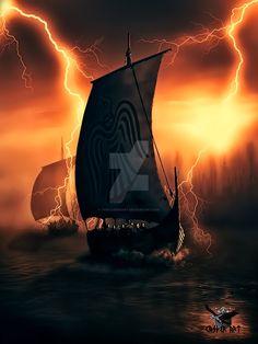 Viking Drakkar by thecasperart