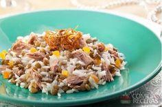 Arroz com lentilha e atum - Comida e Receitas