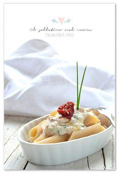 pasta-crema-tonno-pomodori-secchi-philadelphia Italian Pasta Recipes Authentic, Sicilian Recipes, Philadelphia, Pudding, Desserts, Blog, Cream, Tailgate Desserts, Deserts