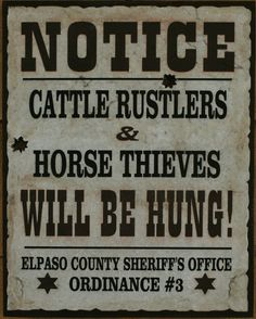 WILD WEST SIGNS N DECOR / RUSTIC WESTERN SIGNS / WESTERN WOOD SIGNS