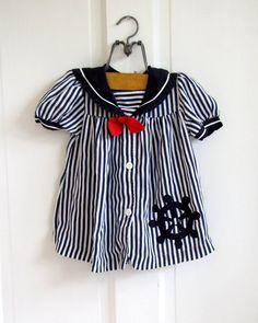 vintage striped sailor dress